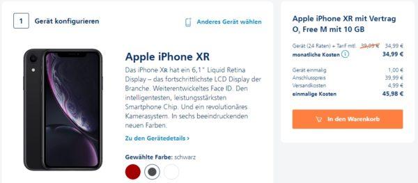 o2 telefonica o2 free m iphone xr produktseite