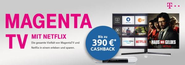 logitel deutsche telekom magenta tv netflix dsl cashback