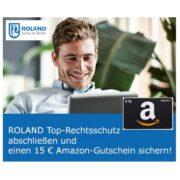 *TIPP* Roland: Rechtsschutzversicherung abschließen und 15€ Amazon.de Gutschein sichern!