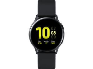 SAMSUNG-Galaxy-Watch-Active2-Aluminium-40mm-AB--Smartwatch--Fluorkautschuk--S-M--Aqua-Black