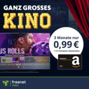 *4,01€ GEWINN ABSTAUBEN* 3 Monate freenet Video für 0,99€ + 5€ Amazon-Gutschein* - z.B. Jesus Rolls, Capone, Cortex uvm.