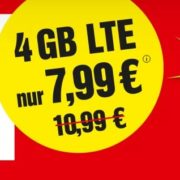 *NUR HEUTE* *TIPP* BildConnect: 4GB LTE + SMS- & Telefon-Flat inkl. Bild+ / BildPlus für 7,99€/Monat - monatlich kündbar!
