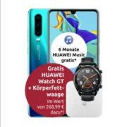 *TELEKOM-NETZ* Congstar 8GB LTE + Allnet-Flat für 20€/Monat + Huawei P30 + Watch + Waage / iPhone SE 2020 / Galaxy A71