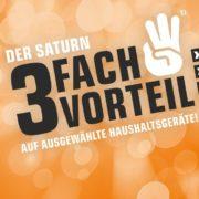 Saturn 3-fach Vorteil: 100€ Direktabzug + kostenlose Lieferung + 0% Finanzierung auf ausgewählte Haushaltsgeräte