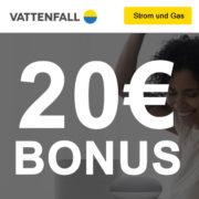 Strom & Gas bei Vattenfall: 20€ Bonus + gratis Google/SONOS Prämie