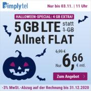 SIMPLYTEL: 5GB LTE Allnet-Flat für 6,66€/Monat (auch ohne Laufzeit!)