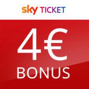 *TOP* 4€ Bonus für Sky Ticket - z.B. Sport-Ticket zum Start der Bundesliga für eff. 5,99€