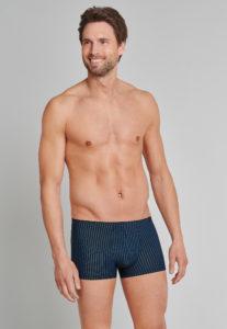 shorts-navy-schwarz-gestreift