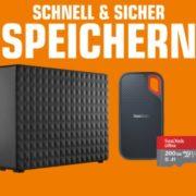 *TOP* SATURN: Speicherwoche - z.B. SANDISK Ultra, Micro-SDXC Speicherkarte, 200 GB, 120 MB/s für 22€