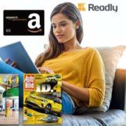 💰 *4,01€ GEWINN* 5€ Amazon.de Gutschein* abstauben & 3 Monate Readly für nur 0,99€