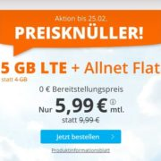 SIM.de: 5GB LTE Allnet-Flat für 5,99€/Monat (auch ohne Vertragslaufzeit!)