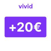 *200€ BONUS* Vivid: Girokonto mit 20€ Startguthaben inkl. bis zu 300€ durch Super Deals, z.B. 24% Rabatt auf Amazon.de*-Gutscheine