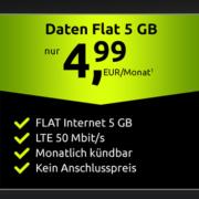 Datentarife im Vodafone-Netz: 5GB für 4,99€, 10GB für 9,99€/Monat