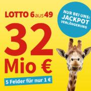 *32 MIO. € IM JACKPOT* Lottohelden: z.B. LOTTO 6aus49 (5 Felder) für 1€ & weitere Angebote!