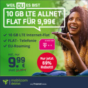 Satte 10 GB Telekom LTE AllnetFlat für nur 9,99€/Monat