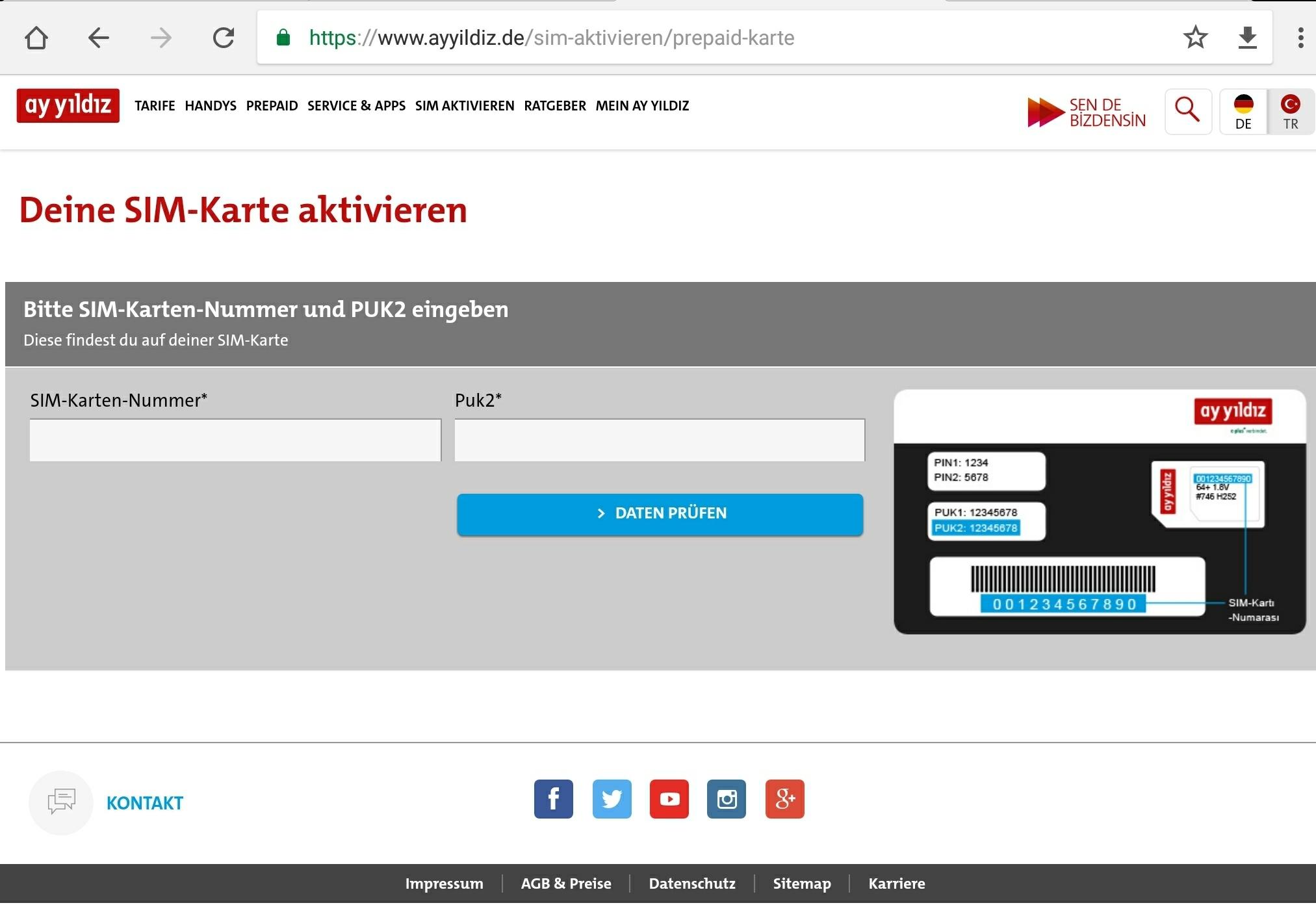 ay yildiz karte aktivieren Ay Yildiz: Kostenfreie Simkarte mit 10 Euro Startguthaben
