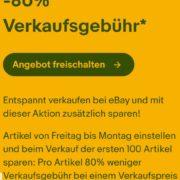 Ebay bis zu 100 x *30% - 80%* reduzierte Verkaufsgebühr vom 23.4. bis 26.4.2021