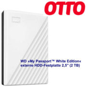 """WD »My Passport™ White Edition« externe HDD-Festplatte 2,5"""" (2 TB) für Otto- Neukunden/innen 44,99 €"""