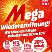 *Mediamarkt* mit *MEGA-Wiedereröffnungs-Rabatten bis 30%* vom 23.06.21 20:00 Uhr bis 27.06.21 23:59 Uhr