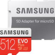 💾 Samsung Evo Plus microSD 512GB mit Adapter für 54,99€ (statt 71€)