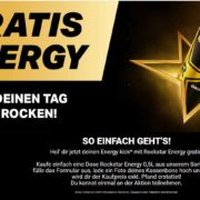 Über Webseite: 1 Dose Rockstar Energy 0,5l gratis
