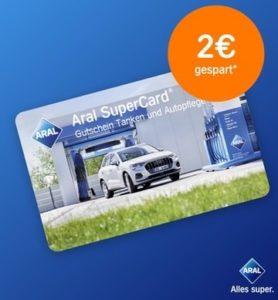 Aral SuperCard mit 42€ für nur 40€ - Tanken und Waschen an allen Aral Tankstellen