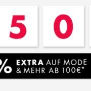 Bis 50% reduziert + *30% Extra-Rabatt* auf Bekleidung, Wäsche, Schuhe, Strümpfe und mehr bei Galeria-Karstadt-Kaufhof bis 21.03.21 ab 100€