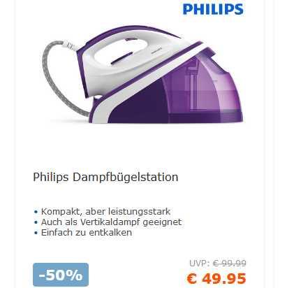 Dampfbügelstation Philips HI5914//30 2400W 5Bar Dampfstoß 180g Konstant 100g