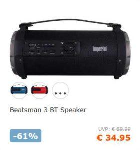 Imperial Beatsman 3 BT-Speaker für 40,90€ inkl.Versand