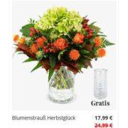 Blumenstrauß Herbstglück mit Hortensie, Rosen, Hypericum