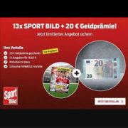 13x Sportbild für 16,60€ + 20€ Verrechnungsscheck -  Kündigung nötig!