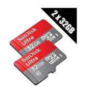 2x 32GB SanDisk Ultra Micro-SD Speicherkarte für 15,-€ inkl. Versand