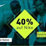 40% auf alle Nike & Under Armour Artikel bei mysportswear + 5€ Gutschein für die Newsletteranmeldung