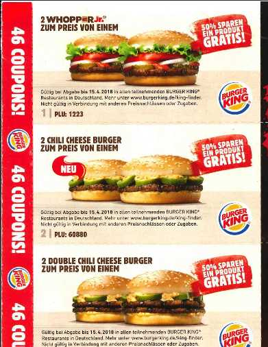 46 burger king coupons. Black Bedroom Furniture Sets. Home Design Ideas