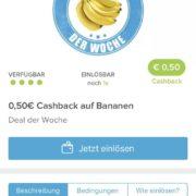 50 Cent Cashback auf Bananen