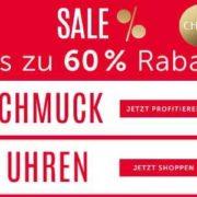 Christ: Bis zu 60% Rabatt im Sale auf Schmuck und Uhren + 40% Extra-Rabatt auf ausgewählte Highlights