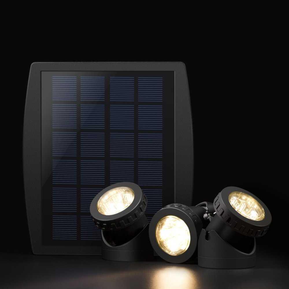 amazon lixada solarspots 3 unterwasser lampen. Black Bedroom Furniture Sets. Home Design Ideas