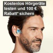 Kostenlos Hörgerät testen und 100€ Rabatt sichern!