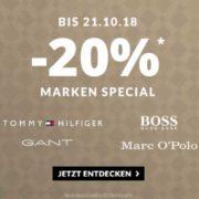 *TIPP* Engelhorn: 20% Extra-Rabatt auf Boss, Hilfiger, Gant, Ralph Lauren und Marc O'Polo