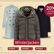 Engelhorn: 20% Extra-Rabatt auf Winterjacken