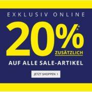 Peek&Cloppenburg: 20% Extra auf alle Sale-Artikel