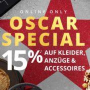 Peek & Cloppenburg*: 15% Extra-Rabatt im OSCAR SPECIAL