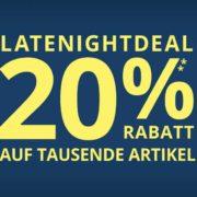 Peek&Cloppenburg*: 20% im Latenightdeal auf viele Artikel