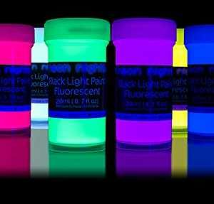 neon nights fluoreszierende schwarzlicht farben. Black Bedroom Furniture Sets. Home Design Ideas