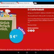 Freitag Penny 5€ ab 40€ EINKAUF