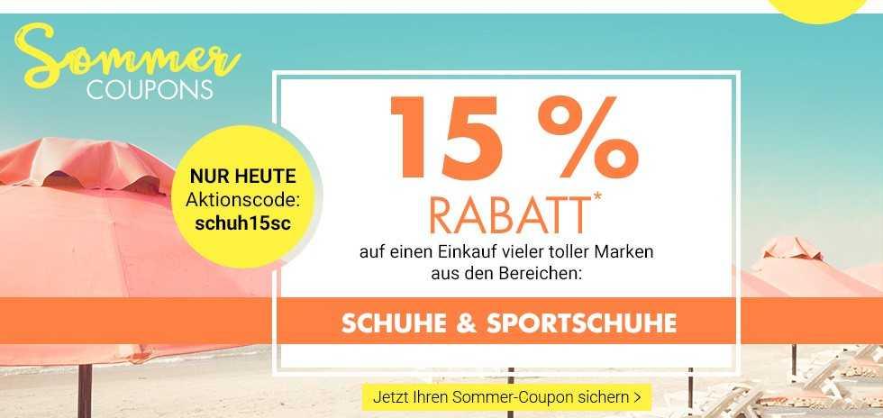 Bei Karstadt Karstadt 15% Rabatt Schuhe & Sportsch