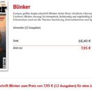 Zeitschrift Blinker Jahresabo für 7,95