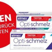 elmex® Opti-schmelz Zahnpasta gratis testen