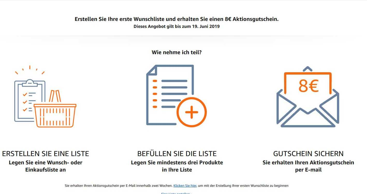 Aktionsgutschein Amazon