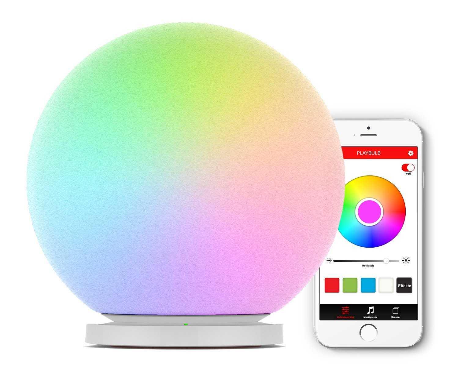 amazon playbulb sphere app gesteuerte rgb led leuchtkugel lampe stimmungslicht farbwechsel. Black Bedroom Furniture Sets. Home Design Ideas